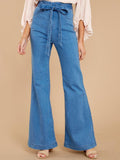 Massimoda High-waist Wide-leg Flared Jeans