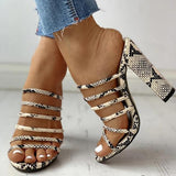 Massimoda Snakeskin High Heels