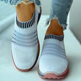 Massimoda Colored Bottom Striped Breathable Casual Sneakers