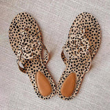 Massimoda Leopard Printed Hollow Out Beach Slippers