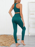 Massimoda Seamless Knitted Buttocks Yoga Set