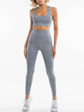 Massimoda Pure Color Fitness Fashion Suit Moisture Wicking Yoga Set