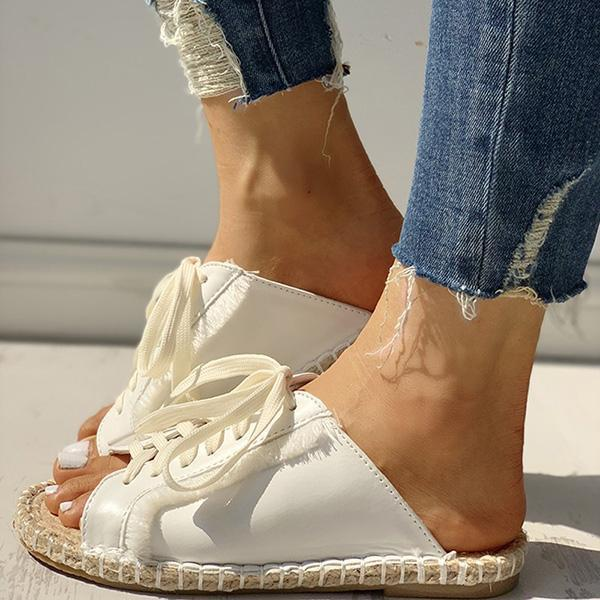 Massimoda Casual Lace-Up Flats