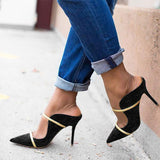 Massimoda Summer Pointed Toe Stiletto Heels
