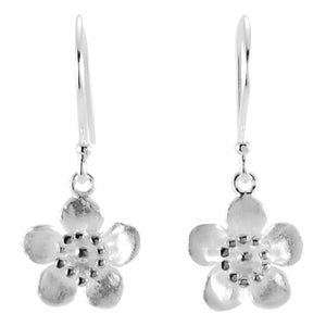 Manuka Flower Silver Earrings