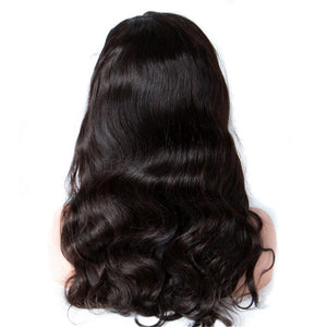 100% Human Hair Body Wave Curly Front Lace Wig with Baby Hair