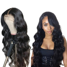 Load image into Gallery viewer, 100% Human Hair Body Wave Curly Front Lace Wig with Baby Hair