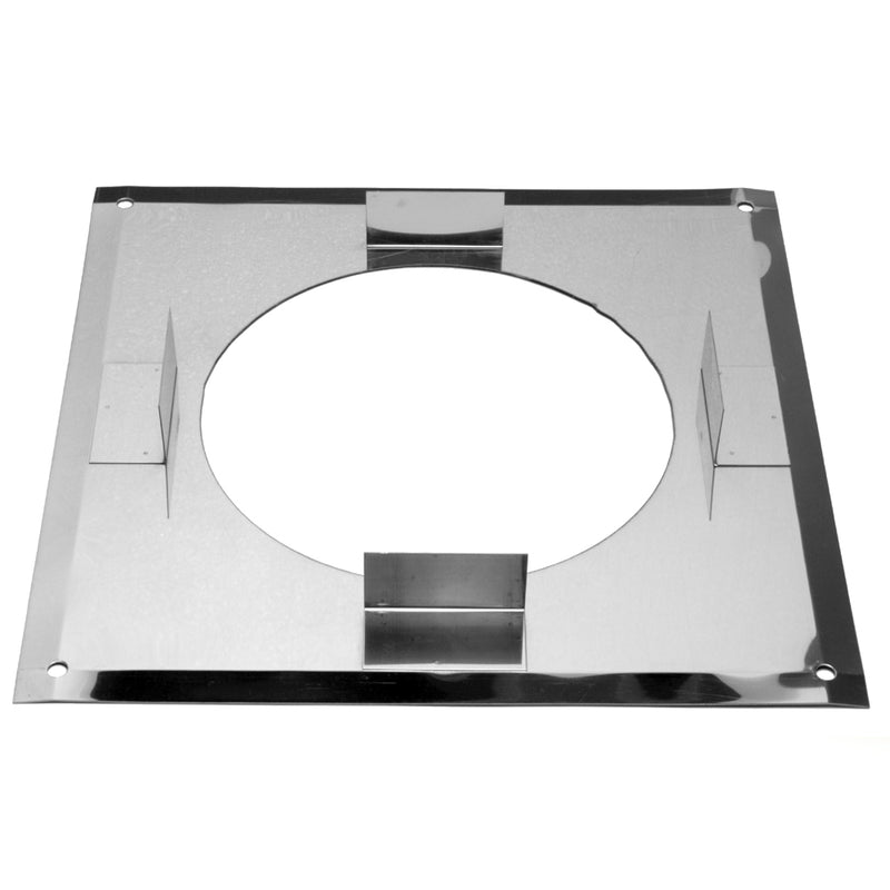 "FireStop Plate Solid 4"" Twinwall Stainless"