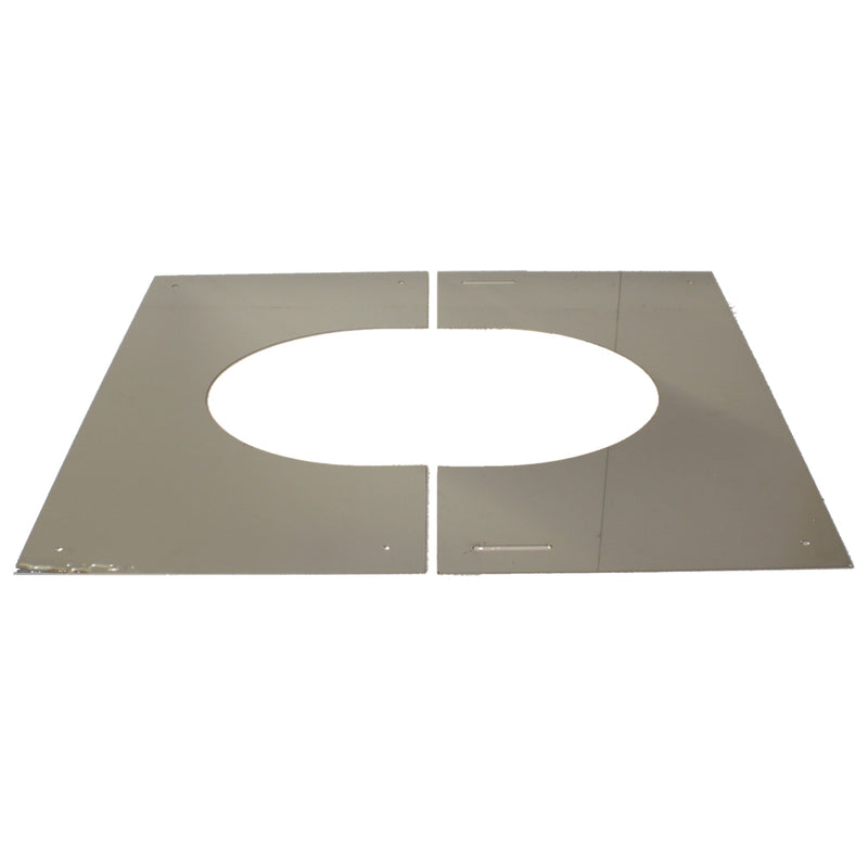 "Finishing Plate 0-30 (2-Part) 6"" Twinwall Stainless"