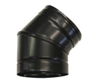 "45 Elbow 4"" Twinwall  Black"