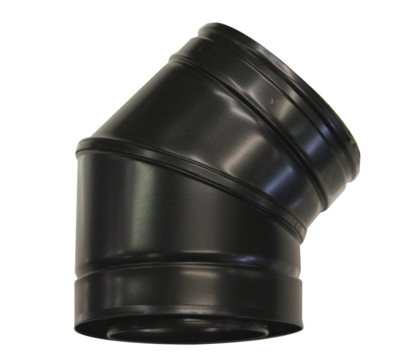 "30 Elbow 6"" Twinwall Black"