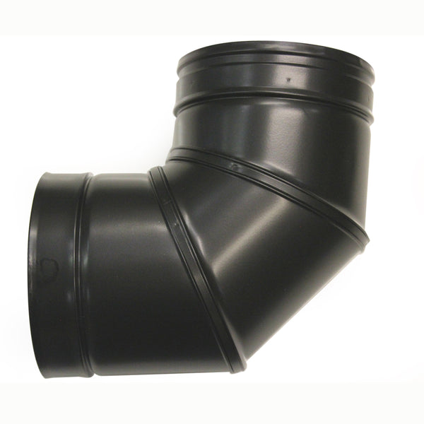 "Elbow 90 Deg 5"" Twinwall Black"