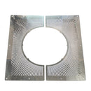 "Vented Firestop Plate 6"" 2 Piece Stainless"