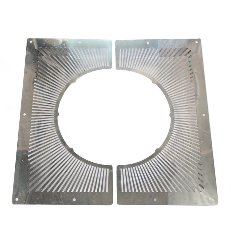 "Vented Fire Stop Plate 2-Piece - 4"" Twinwall Stainless"