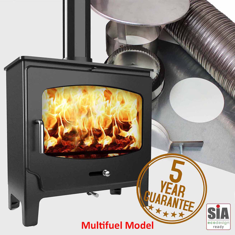 ST-X Wide(Low) MultiFuel Stove and Liner Package Deal