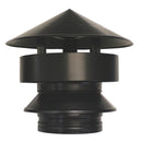 "All Weather Rain Cap 4"" Twinwall Black"