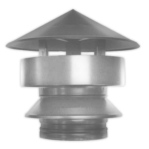"All Weather Rain Cap 4"" Twinwall Stainless"