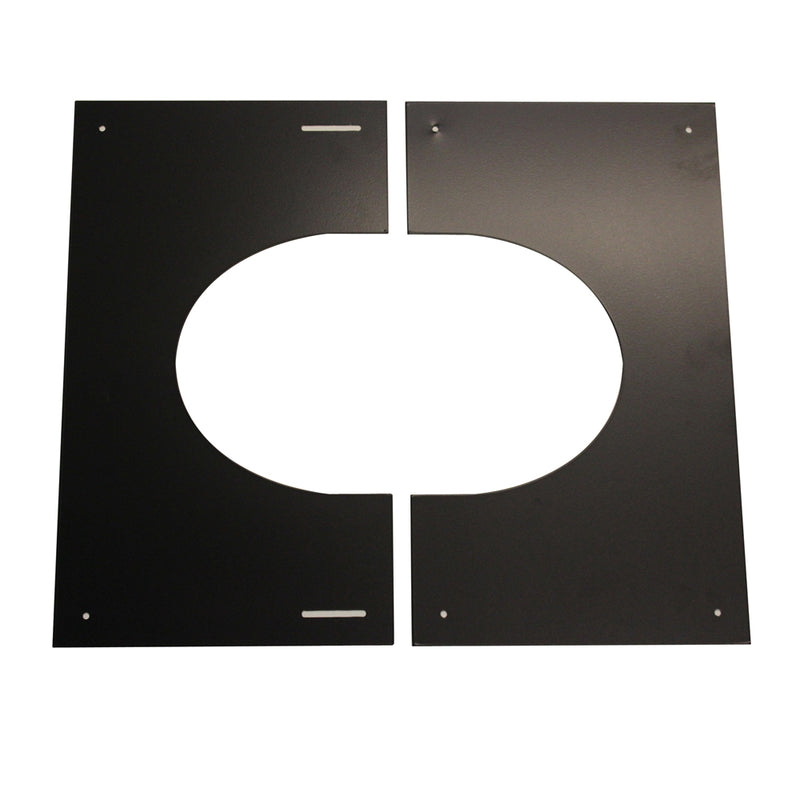 "Finishing Plate 30-45 (2-Part) 6"" Twinwall Black"