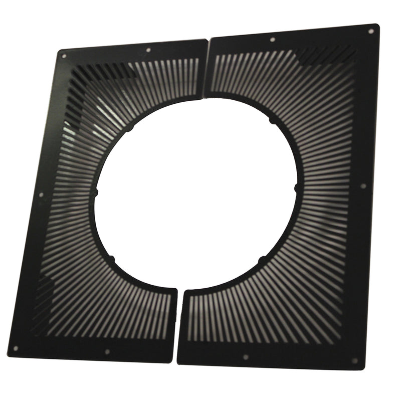 "Vented Firestop Plate 6""  2 piece Black"