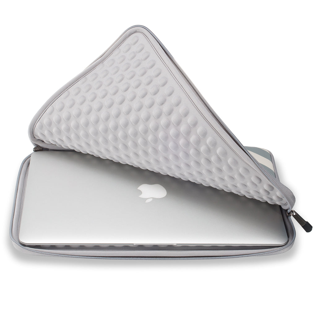 Runetz - MacBook Pro 13 Inch Sleeve Neoprene MacBook Air 13 Inch Sleeve 2017 - 2012 Laptop Sleeve Notebook Bag Case Cover with Accessory Pocket Older Version Size - Chevron Grey