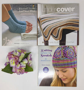 CLEARANCE BOOKS-Set of 3 Knitted Socks East and West by Judy Sumner, Under Cover by Elaine Silverstein and Knitting Outside Swatch by Kristin Omdahl