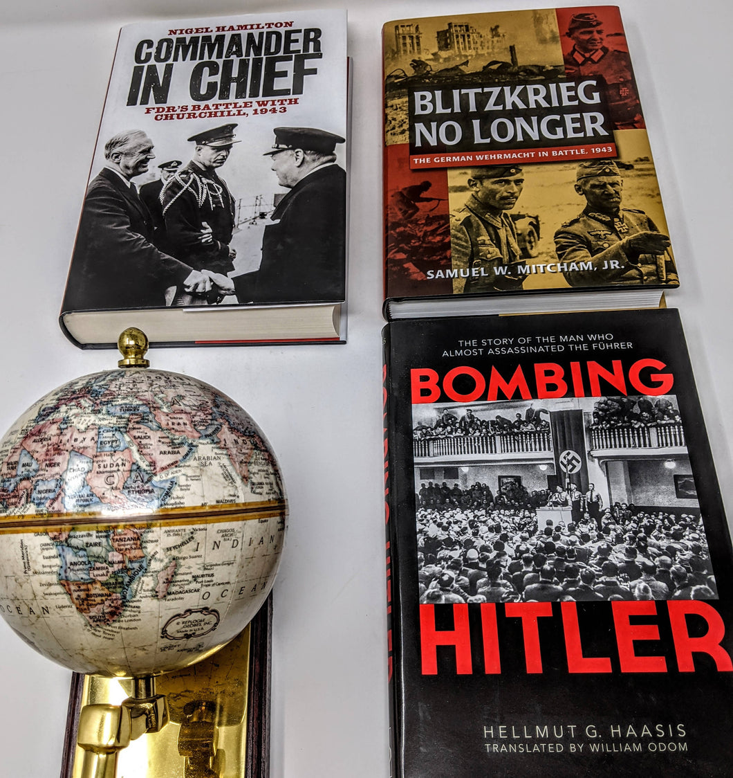 CLEARANCE - 3 Book Set - Commander and Chief by Nigel Hamilton, Blitzkrieg no Longer by Samuel W. Mitcham, JR. and Bombing Hitler by Hellmut G. Haasis