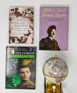 CLEARANCE: 3 Book Set- Fighting Them on the Beaches by Nigel Cawthorne, Hitler's Secret Jewish Psychic by Phil Mason and The Story of Codebreaking by Al cimino