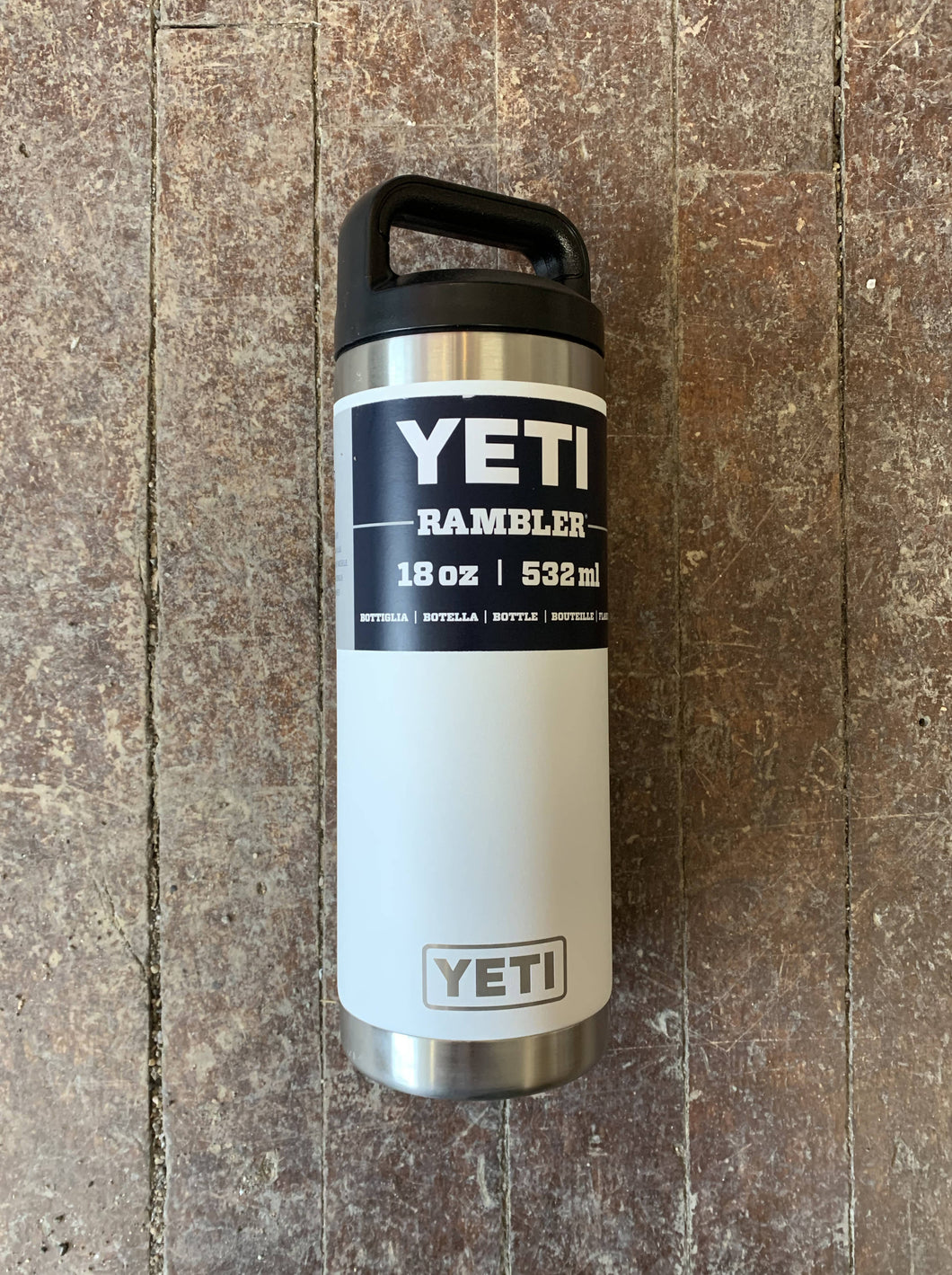 Yeti 18oz Rambler Bottle with Chug Cap White