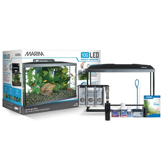 Marina 10G LED Glass Aquarium Kit - 38 L (10 US gal)