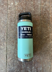 Yeti 26oz Rambler Bottle with Chug Cap Seafoam