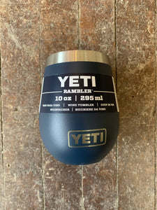 Yeti 10oz Rambler Wine Tumbler Navy Blue