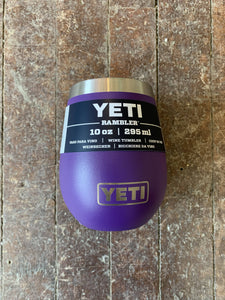 Yeti 10oz Rambler Wine Tumbler Purple