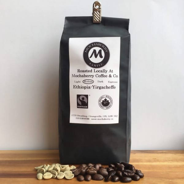Ethiopian Yirgacheffe, Fair Trade Organic Medium Roast Coffee