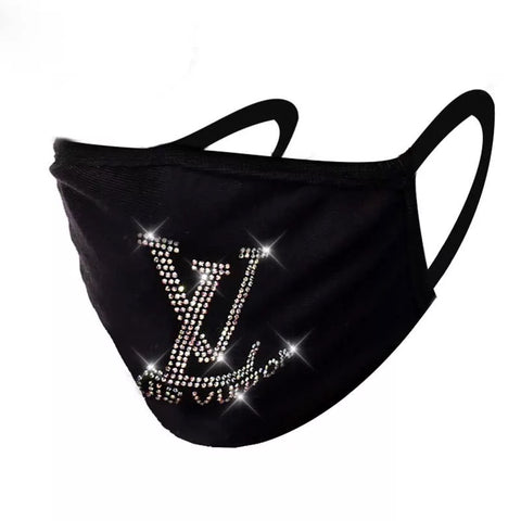 Louis Vuitton Bling Face Mask