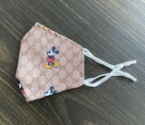 Gucci/Mickey Mouse Face Mask