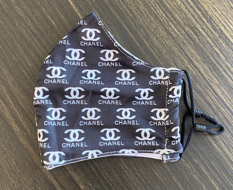 Black/White Chanel Face Mask 2