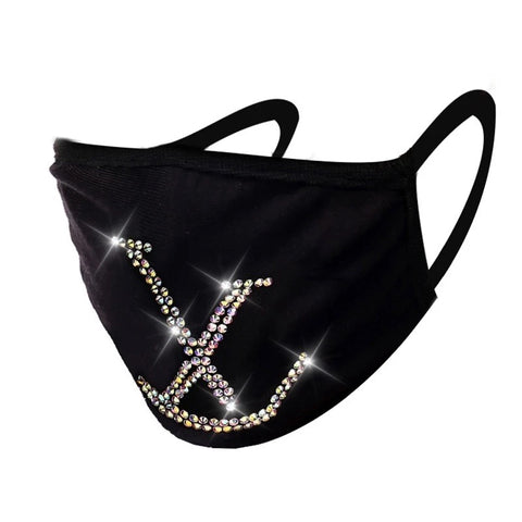 "Louis Vuitton ""LV"" Bling Face Mask"