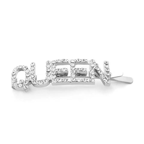 QUEEN Crystal Rhinestone Hair Clip Pin