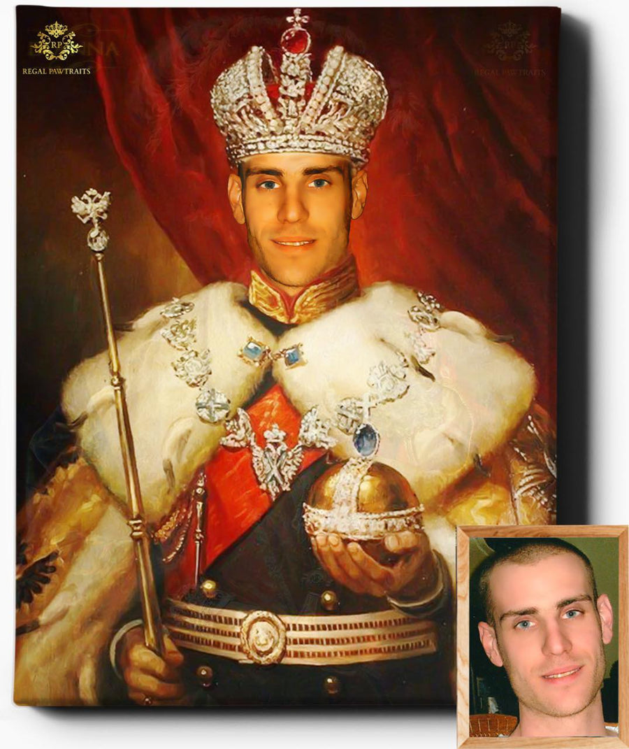 Custom Royal Portraits | His Highness | Custom Gift For Him