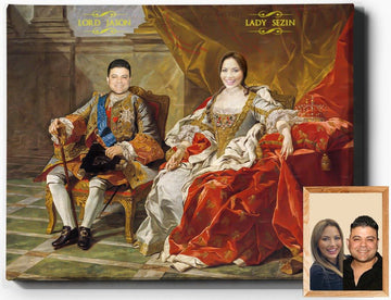 Custom Royal Portraits | Royal Couple I | Custom Gift For Couples - Regal Pawtraits