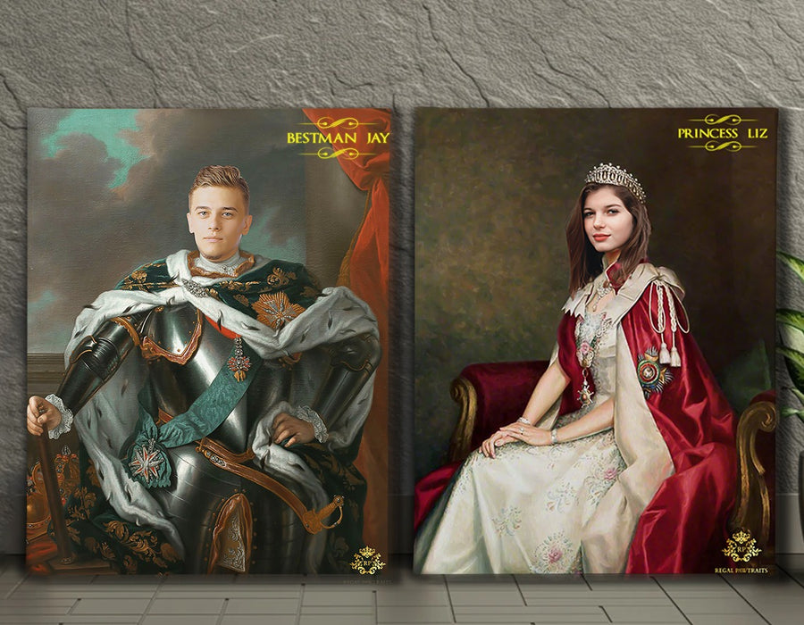 Valentines Bundle 8 | Custom Royal Portraits | Custom Gift For Couples - Regal Pawtraits