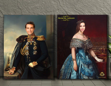 Valentines Bundle 5 | Custom Royal Portraits | Custom Gift For Couples - Regal Pawtraits