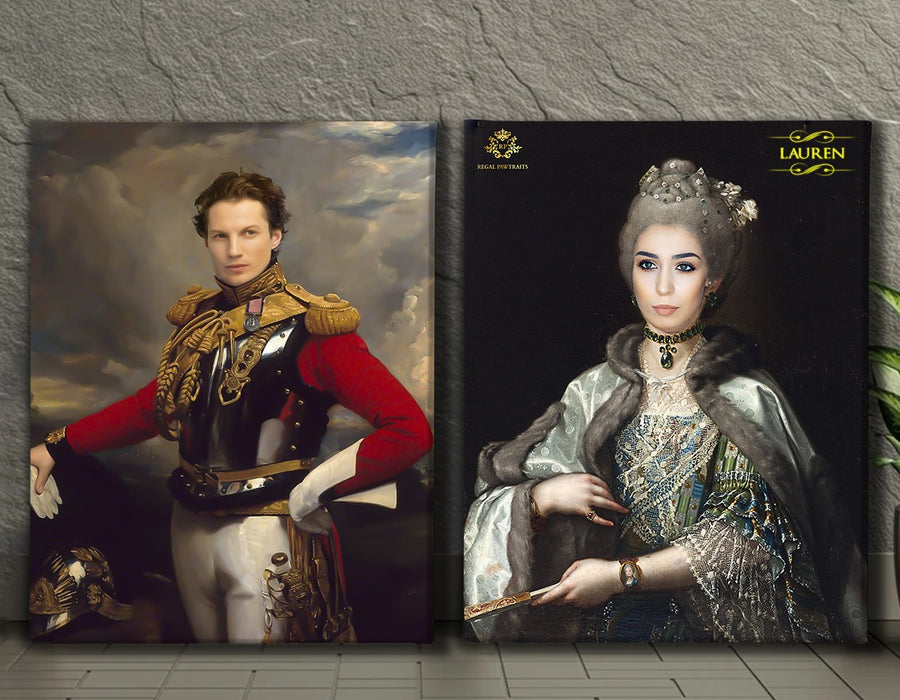 Valentines Bundle 6 | Custom Royal Portraits | Custom Gift For Couples - Regal Pawtraits