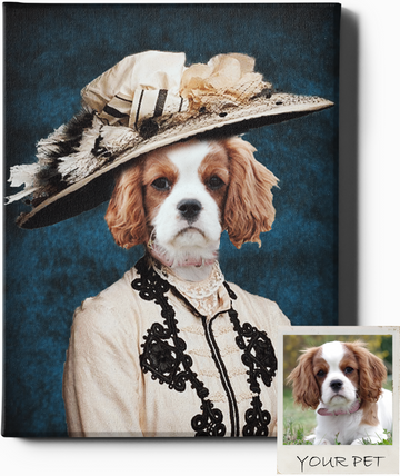 THE SOCIALITE | CUSTOM PET PORTRAIT | REGAL PAWTRAITS - Regal Pawtraits