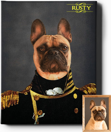 THE CAPTAIN | CUSTOM PET PORTRAIT | REGAL PAWTRAITS - Regal Pawtraits