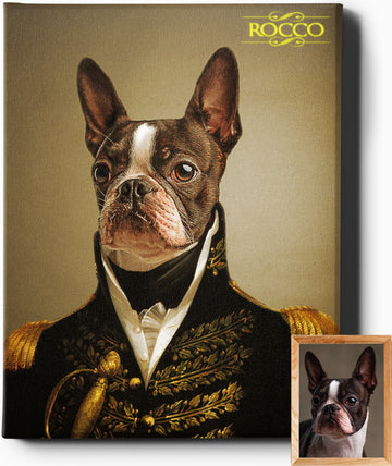 THE ADMIRAL | CUSTOM PET PORTRAIT | REGAL PAWTRAITS - Regal Pawtraits