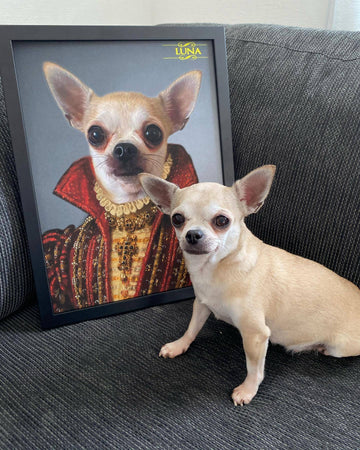Custom Royal Portraits THE BARONESS | CUSTOM PET PORTRAIT | REGAL PAWTRAITS - Regal Pawtraits