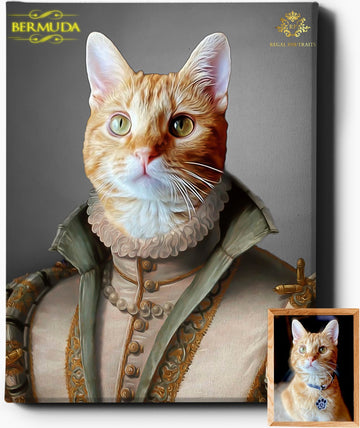 Custom Royal Portraits THE VISCOUNTESS | CUSTOM PET PORTRAIT | REGAL PAWTRAITS - Regal Pawtraits