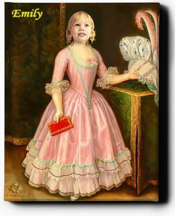 Little Royal Lady | Custom Royal Portraits | Custom Gift for Kids - Regal Pawtraits