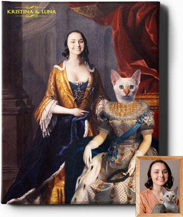 Custom Royal Portraits THE REGAL LADIES II | CUSTOM PET PORTRAIT | REGAL PAWTRAITS - Regal Pawtraits